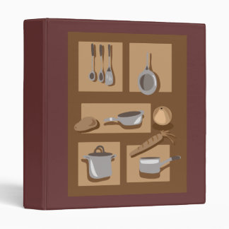 kitchenware and food 3 ring binder