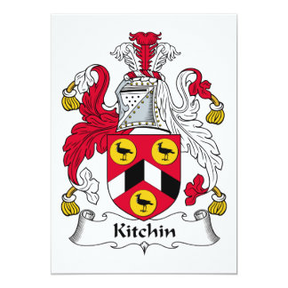 Kitchin Family Crest Card