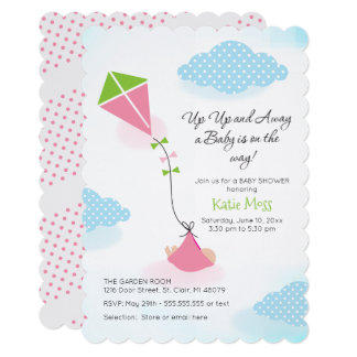 Kite Baby Shower Invitation