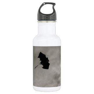 Kite - Black and White Stainless Steel Water Bottle