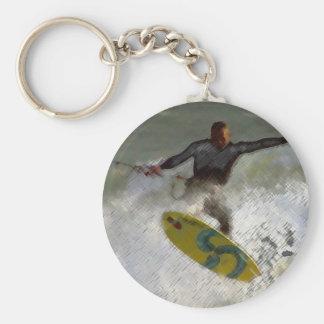 Kite Boarder Basic Round Button Keychain