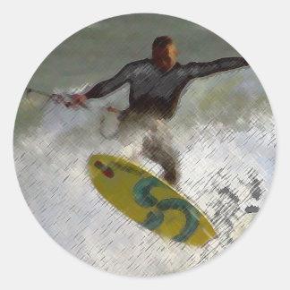 Kite Boarder Classic Round Sticker