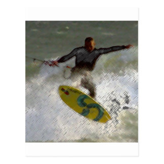 Kite Boarder Postcard