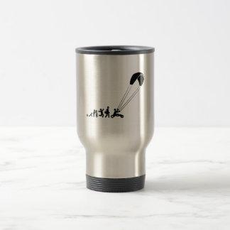 Kite Buggying 15 Oz Stainless Steel Travel Mug