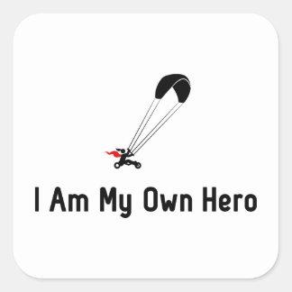 Kite Buggying Hero Square Sticker