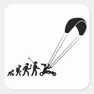 Kite Buggying Square Sticker