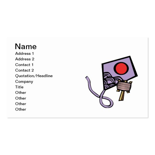 Kite Double-Sided Standard Business Cards (Pack Of 100)