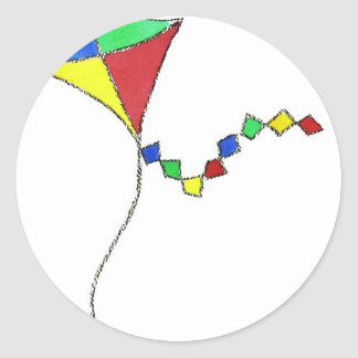 Kite Classic Round Sticker