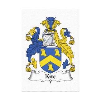Kite Family Crest Canvas Print