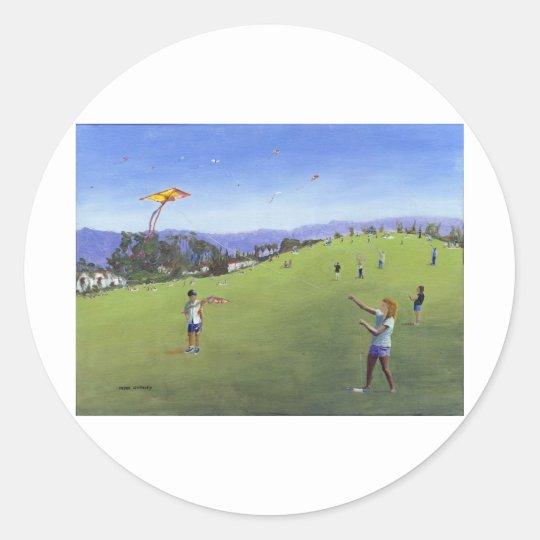 Kite Festival Classic Round Sticker