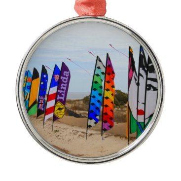 Kite festival flags metal ornament