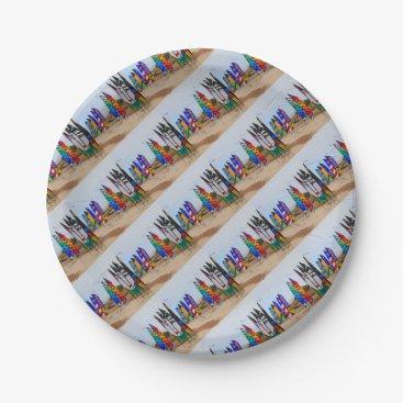 Kite festival flags paper plate