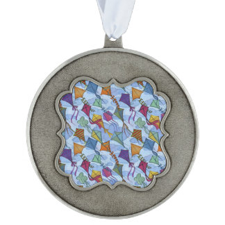 Kite Festival Pewter Ornament