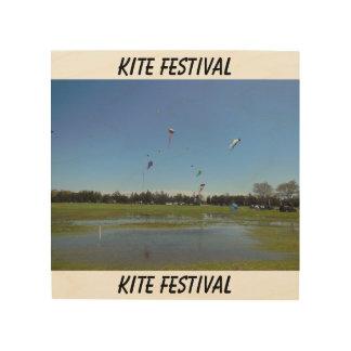 Kite Festival Wood Print