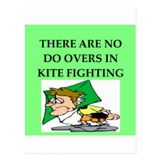 KITE fighting Post Cards
