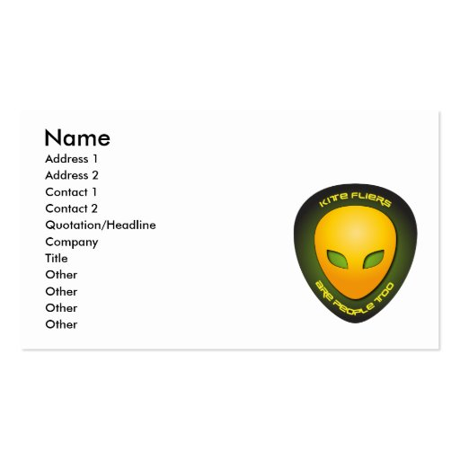 Kite Fliers Are People Too Double-Sided Standard Business Cards (Pack Of 100)