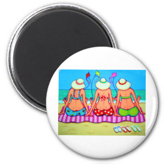 Kite Flying 101 - Women and Kites 2 Inch Round Magnet