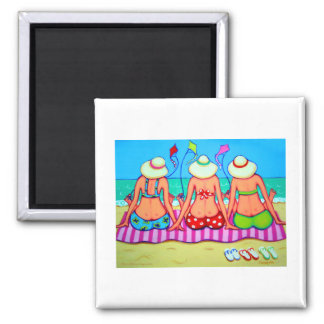 Kite Flying 101 - Women and Kites 2 Inch Square Magnet