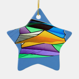 Kite flying 1 ceramic ornament