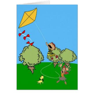 Kite Flying Card