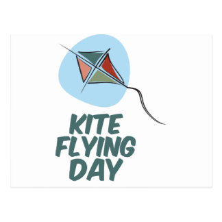 Kite Flying Day - 8th February Postcard