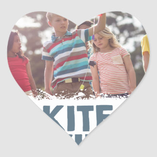 Kite Flying Day  - Appreciation Day Heart Sticker