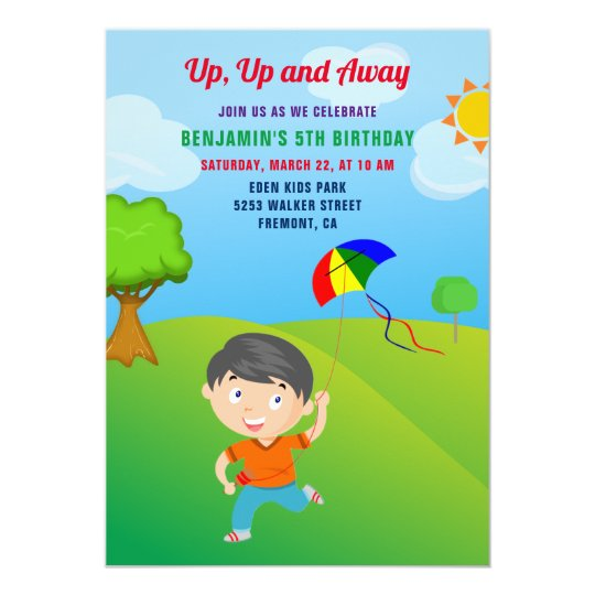 Papery Pop 4th Birthday Party Invitations with Envelopes Rainbow - 4 Year Old Kids Birthday Invitations for Boys or Girls 15 Count