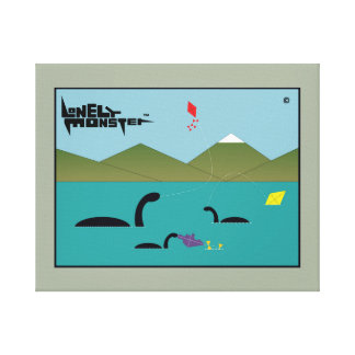Kite Flying Lonely Monsters Canvas Print