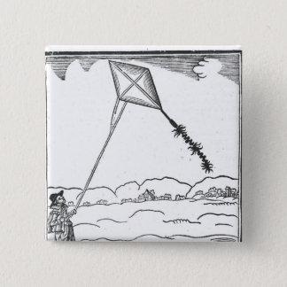 Kite Flying Pinback Button