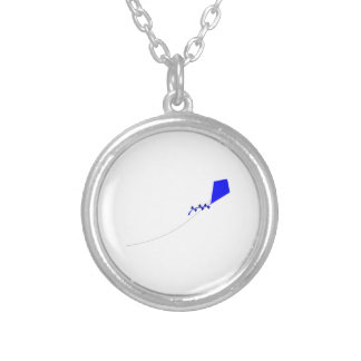 Kite Flying Silver Plated Necklace