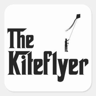 Kite Flying Square Sticker
