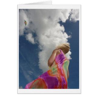 Kite Flying Stationery Note Card