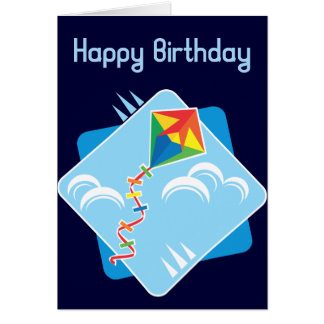 Kite Fun Birthday Card