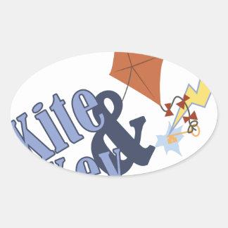 Kite & Key Oval Sticker
