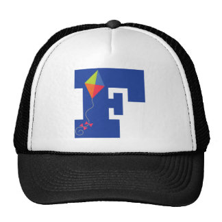 Kite Kid Monogram Letter F Alphabet Trucker Hat