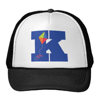 Kite Kid Monogram Letter K Alphabet Trucker Hat