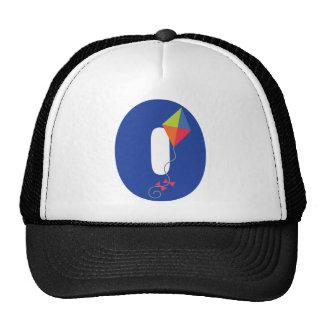 Kite Kid Monogram Letter O Alphabet Trucker Hat