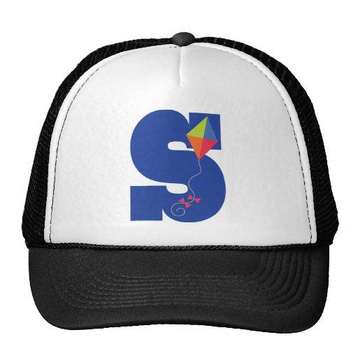 Kite Kid Monogram Letter S Alphabet Trucker Hat