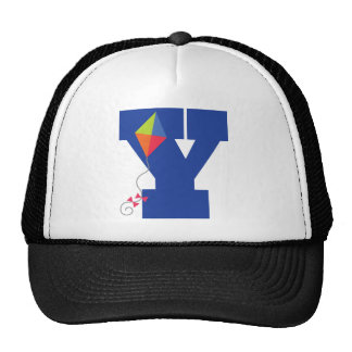 Kite Kid Monogram Letter Y Alphabet Trucker Hat