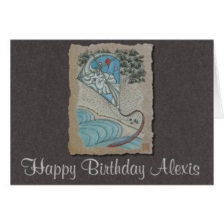 Kite & Mr. North Wind Greeting Card