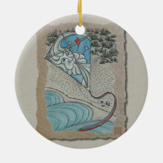 Kite & Mr. North Wind Ceramic Ornament