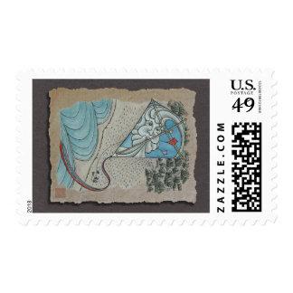 Kite & Mr. North Wind Postage Stamp