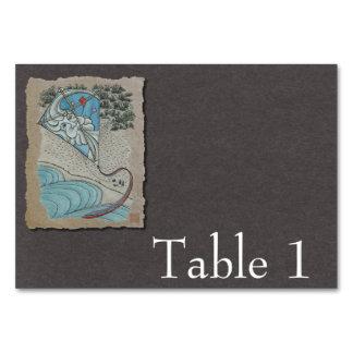 Kite & Mr. North Wind Table Card