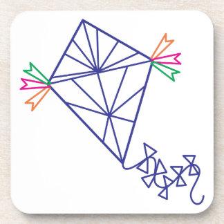 Kite Outline Beverage Coasters