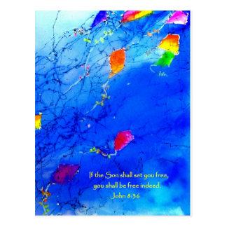 Kite Sky Postcard