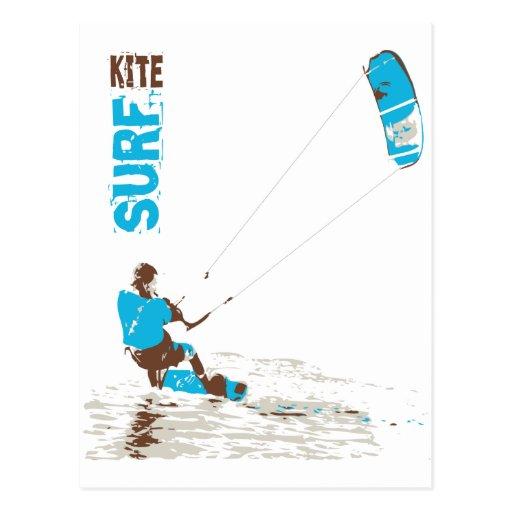 kite surf postcard