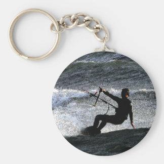 Kite surfer keychain
