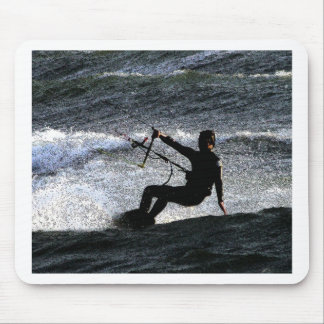 Kite surfer mouse pad