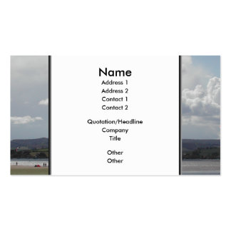Kite Surfers. Nice scenic view. Business Card