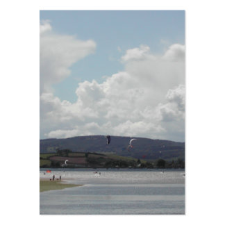 Kite Surfers. Nice scenic view. Large Business Card